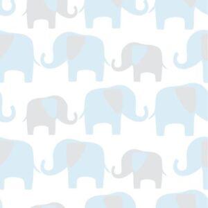 Nuwallpaper-Elephant-Parade-Autocollant-Papier-Peint-Bleu-NU1404-Fine-Decor