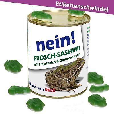 ►Gag Konserve Frosch Geschenkideen Blechdose Etikettenschwindel ► Geschenk Dose