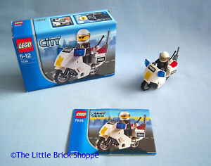 Details about Lego City 7235 POLICE MOTORCYCLE - Boxed and complete with  instructions