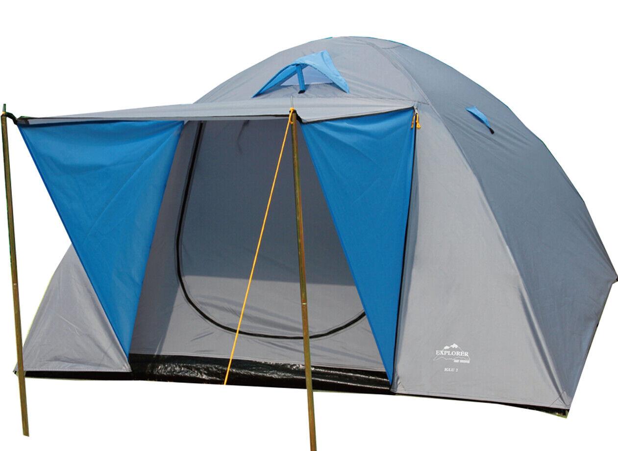 Iglu 3 Doppeldach Kuppelzelt Zelt 4 Personen Iglu Camping Outdoor
