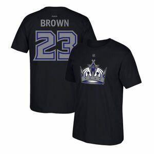 Dustin-Brown-Reebok-Los-Angeles-Kings-Premier-N-amp-N-Black-Jersey-T-Shirt-Men-039-s