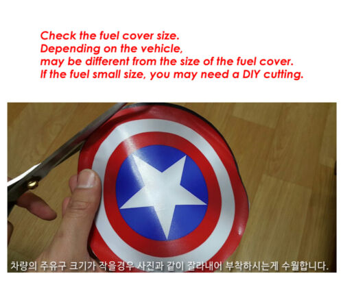 Rear Captain America Fuel Oil Cover Decal Sticker 160mm For Universal Car fit