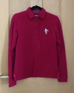 CALDENE-Ladies-Deep-Red-Casual-Cotton-Blend-Sweatshirt-Size-M