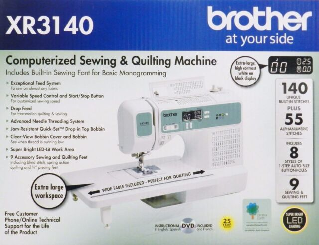 Brother XR 40 XR40 Computerized Sewing Quilting Machine EBay Fascinating Brother Xr3140 Sewing Machine