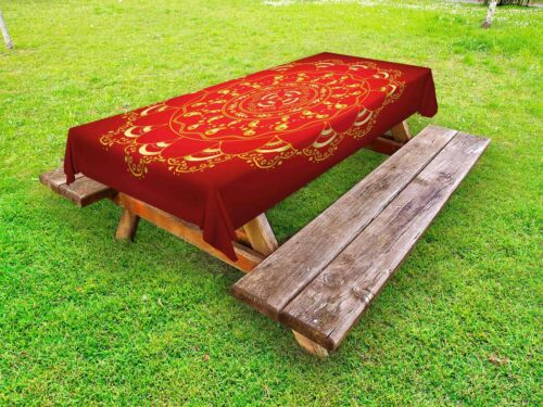Eastern Mandala Outdoor Picnic Tablecloth in 3 Sizes Washable Waterproof