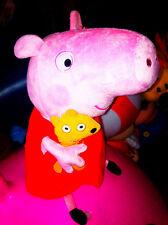 NEW peluche - Peppa Pig gonnellina rossa  18 .cm MORBIDO original