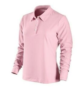 Nike Golf Womens L/s Shirt Fit Dry M 8-10 Pink $70
