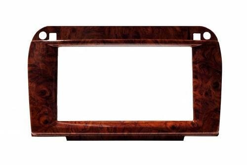 Double Din Wood Grain Mounting Install Trim Dash Kit Fits Mercedes Benz S-Class