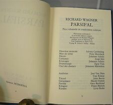 Wagner, Parsifal. Marc Kowalski, Bruxelles 1989 - World FREE Shipping*