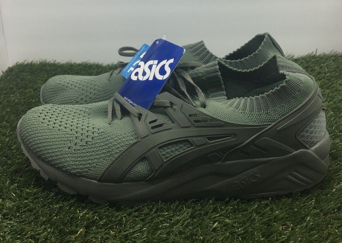 Asics Kayano Trainer gel Running Shoes Knit Low Agave Olive H705N Size 11.5