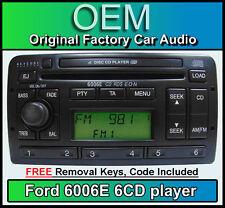 FORD Focus 6 multilettore Radio, FORD 6006 6 Lettore CD Auto Stereo & Chiavi + codice