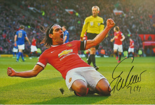 MANCHESTER UNITED HAND SIGNED RADAMEL FALCAO 12X8 PHOTO.