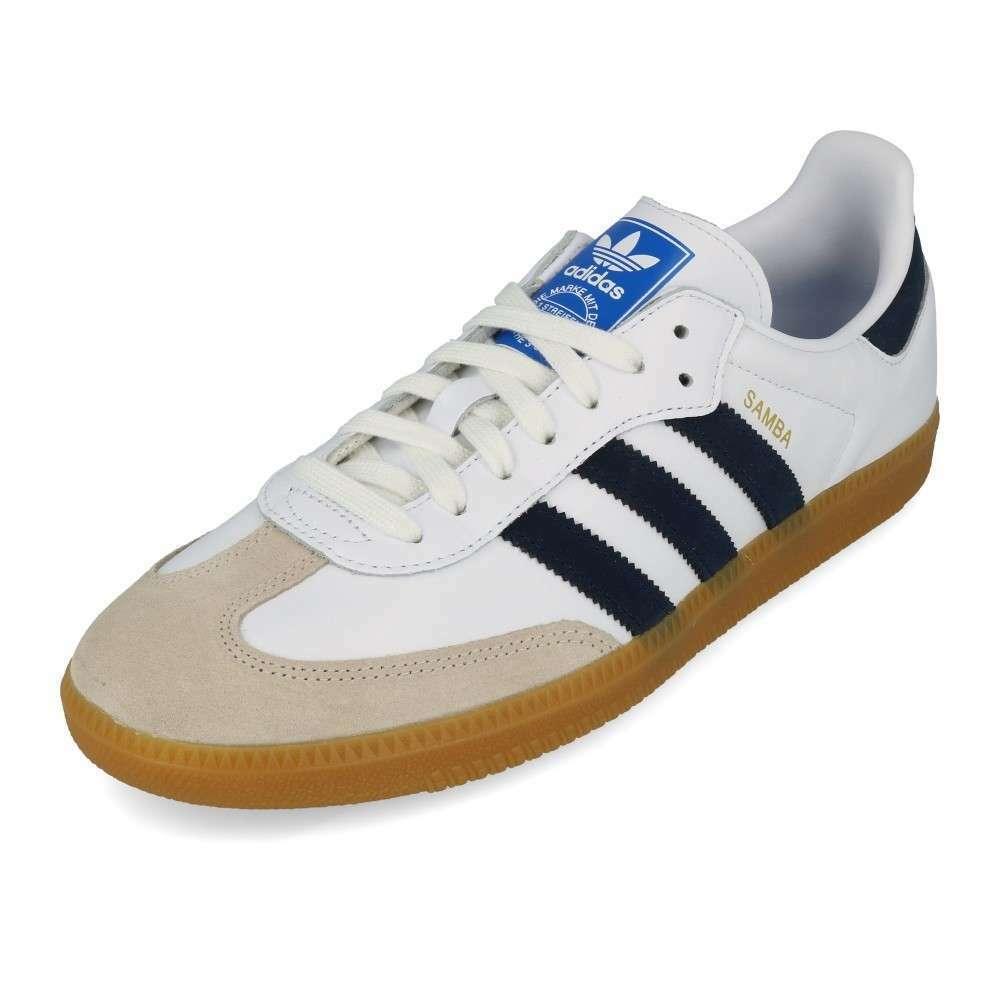 Adidas Samba Og Weiß , Collegiate Marine & Blau EE5450