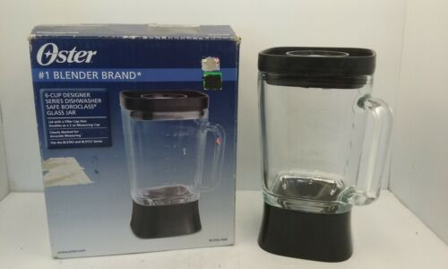 OSTER BLSTAJ-FAB REPLACEMENT GLASS BLENDING JAR /& LID 6 CUP PITCHER BLACK NIB