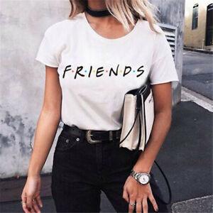 Hot-Friends-T-Shirt-TV-Show-Inspired-Women-Fashion-Tee-Tops-T-shirts-2019-New