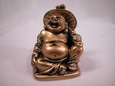 "Dollhouse Miniature 1:12 Scale 1""x2"" Buddha Budda Buddah Buda Statue #Z0212 Gold"