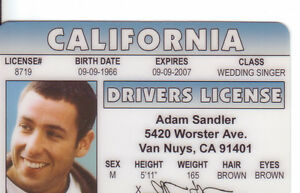 ADam-Sandler-Happy-Gilmore-star-ID-card-Drivers-License
