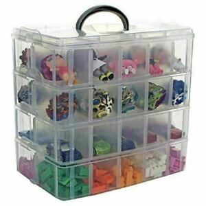 Bins & Things Stackable Storage Containers with 18 Adjustable Compartments (9.75