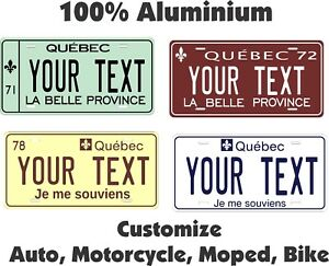 Quebec-Tag-Personalized-Auto-Car-Motorcycle-Moped-Bike-Bicycle-License-plate