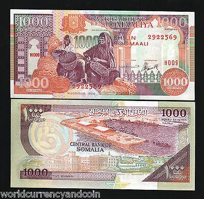 UNC Lot 10 PCS Somalia 1000 Shillings 1996 P-37 PAPER NOTE