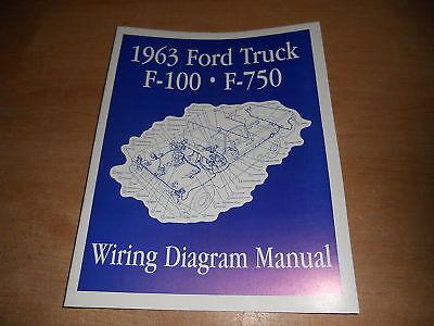 1963 FORD F100 F250 F350 F-100 WIRING DIAGRAMS MANUAL | eBay