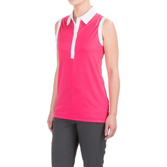 a84c68e62d46 Reebok Classic Polo Tank Top Shirt Women s Size M Sleeveless Slim Golf  Tennis for sale online