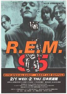 R-E-M-REM-Grant-Lee-Buffalo-Japanese-Concert-Flyer-1995-Near-Mint