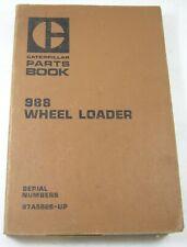 New Listingcat Caterpillar 988 Wheel Loader Tractor Parts Manual Book Catalog 87a15628 Up