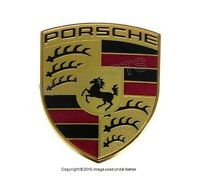 Porsche 911 Boxter Cayman 09-14 Hood Emblem Genuine 991 559 211 00 on sale