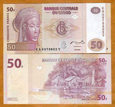 Analytisch Congo (democratic Republic) 2007 Banknote 50 Fr (banque Centrale Du Congo) - Unc Seniliteit Uitstellen