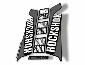 Rock Shox REVELATION 2016 Mountain Bike Cycling Decal Kit Sticker Adhesiv Orange