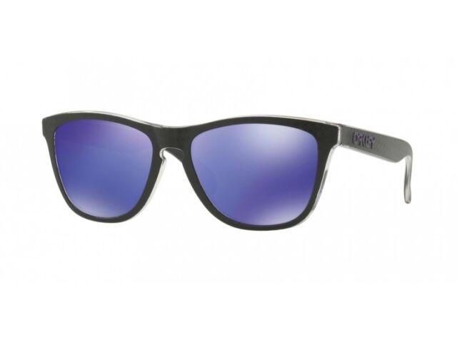 b20f2479b7c 2018 Oakley Frogskins Sunglasses Checkbox Black Violet Iridium for ...