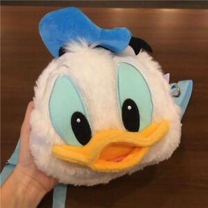 Disney-Donald-Duck-head-shoulder-Bag-Coin-bag-Wallet-Plush-Toy-Gift