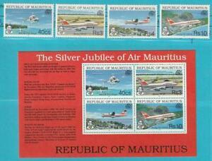 Maurice De 1993 ** Cachet Minr. 760-763 + Bloc 15 Avions Hélicoptère-afficher Le Titre D'origine Clair Et Distinctif