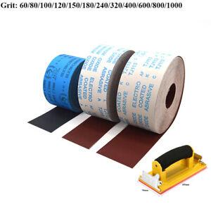 100mm 4/'/' Wide Aluminium Oxide Emery Roll Cloth Sandpaper 60-800 Grit Sanding