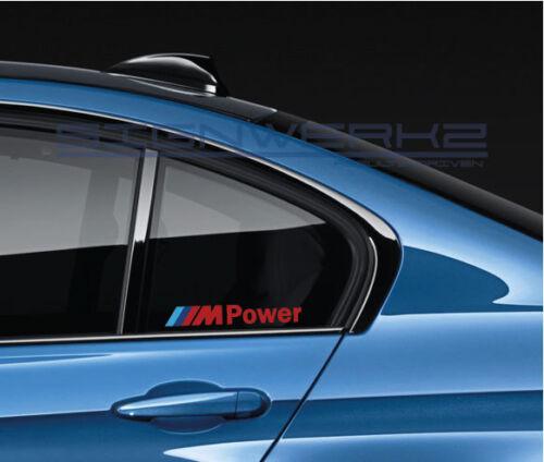 M Power Decal Sticker M power M1 M2 M3 M4 M5 MX5 MZ4 X3 X5 BMW 335 M8 X3M Pair