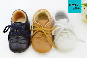 Baby-Brogues-Formal-Soft-Pram-Cot-Wedding-Christening-Suit-Shoes-by-Moshi-Babies