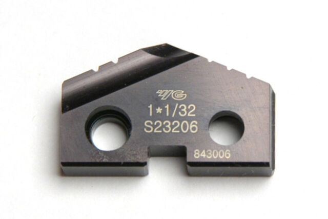 "1/"" Spade Drill Insert Series 2 Powdered Metal Hardslick Coated YG-1 #S09203"