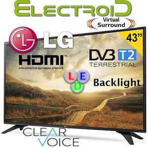 """TV LED 43"""" LG 43LH500T DVB-T2 TV LED HDMI USB VIRTUAL SURROUND CLEAR VOICE"""