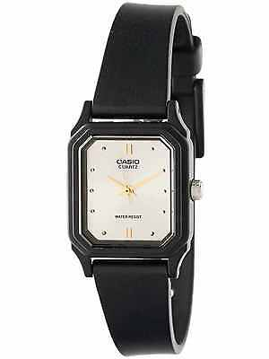 Casio Women's Black Resin Watch, Silvertone Dial, Analog,  LQ142E-7A