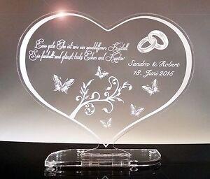 Zur-Hochzeit-Hochzeitstag-Acrylglas-Schild-Herz-Geschenk