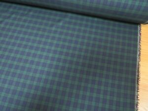 Small-Classic-Black-Watch-Tartan-Poly-Viscose-Fabric-150cm-wide-sold-by-metre