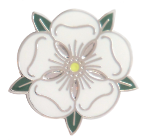Yorkshire County White Rose Lapel Pin Badge