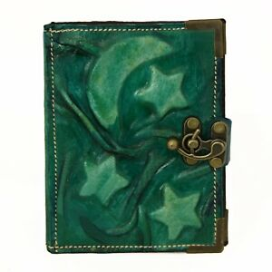 Handmade Real Leather Refillable Journal Diary Note book Brown Cover Heart