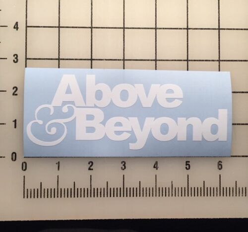 """Above And Beyond Above /& Beyond 6/"""" Wide White Vinyl Decal Sticker BOGO"""