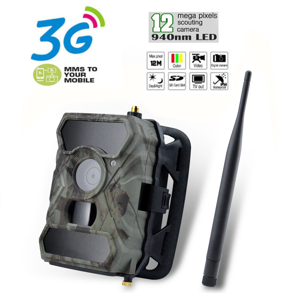 S880G 12MP 3G Mobile Scouting Wildlife Trail Hunting Security Infrared HD Camera