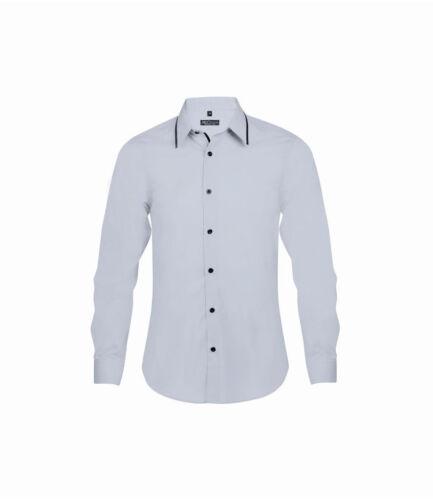 10567-tessuto Easy Care SOL/'S Baxter a Maniche Lunghe Camicia Aderente a contrasto