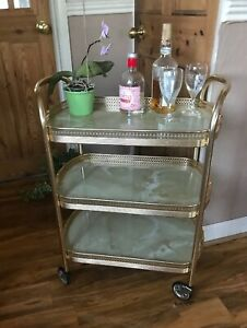 Vintage-Retro-Oval-3-Niveles-Efecto-De-Marmol-Coctel-Bebidas-Te-Servir-Trolley