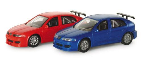 blauw    1//87 Herpa Seat  Leon Cupra  rood