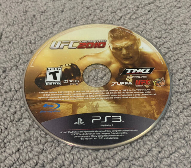 UFC Undisputed 2010 (Sony PlayStation 3 2010) Disc Only